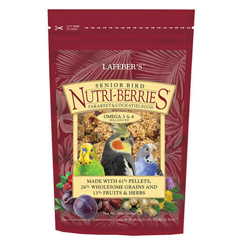 Lafeber Senior Bird Nutri-Berries Cockatiel Food 10 Oz.