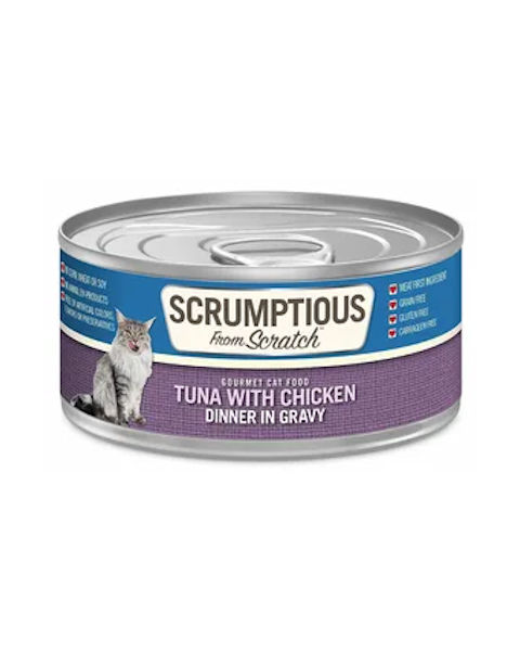 Scrumptious From Scratch Tuna with Chicken Dinner in Gravy Cat Food 2.8 Oz.