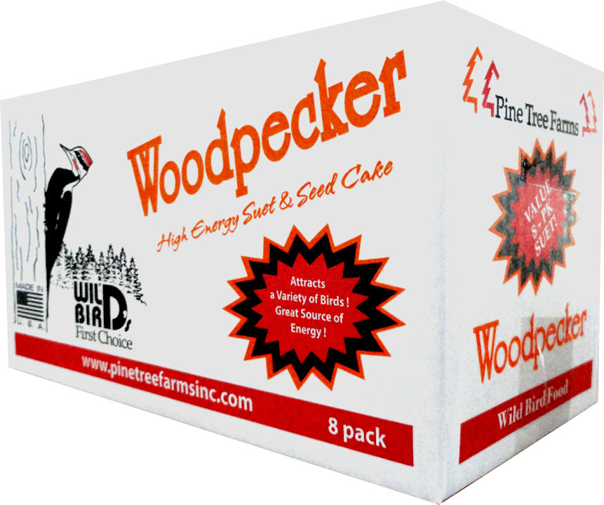 Pine Tree Farms Woodpecker Suet Cake  Value 8-Pack