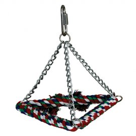 Paradise Tri-Chain Pyramid Rope Bird Swing