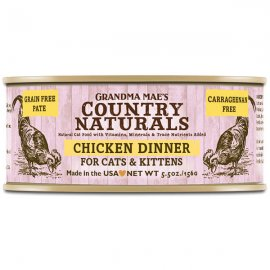 Grandma Mae's Country Naturals Chicken Dinner for Cats & Kittens 5.5 Oz