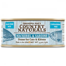 Grandma Mae's Country Naturals Mackerel & Sardine Dinner for Cats & Kittens 5.5 Oz