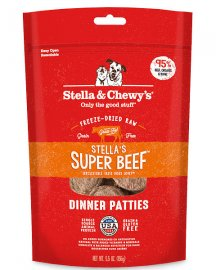 Stella & Chewys Super Beef Freeze-Dried Dinner Patties