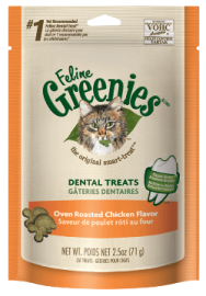 Feline Greenies™ Dental Treats Oven Roasted Chicken Flavor