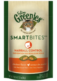Feline Greenies™ Smartbites Hairball Control Treats Chicken Flavor